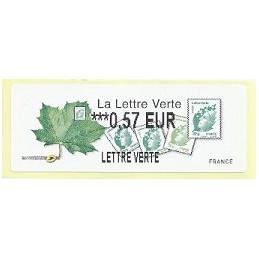 FRANCIA (2011). Lettre Verte - LISA 2. ATM nuevo (0,57 L VERTE)