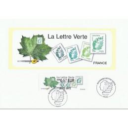 FRANCIA (2011). Lettre Verte - LISA 2. Hoja P.D. (0,57 L VERTE)