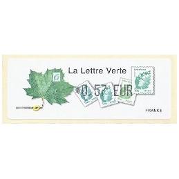 FRANCIA (2011). Lettre Verte - LISA 1. ATM nuevo (0,57)
