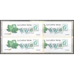 FRANCIA (2011). Lettre Verte - LISA 1. Serie 4 val.