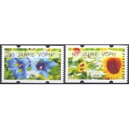 AUSTRIA (2011). 90 JAHRE VÖPH (Flores 3). ATMs nuevos (01)