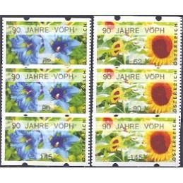 AUSTRIA (2011). 90 JAHRE VÖPH (Flores 3). Series 3 val.