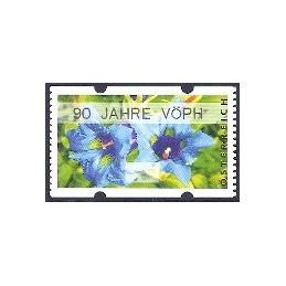 AUSTRIA (2011). 90 JAHRE VÖPH (Flores 3). Etiqueta sin facial
