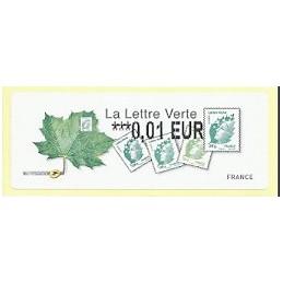 FRANCIA (2011). Lettre Verte - LISA 2. ATM nuevo (0,01)