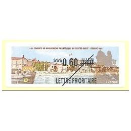 FRANCIA (2011).  66 Congres GPCO - Cognac. Etiqueta TEST