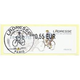 FRANCIA (2011). Adresse - Facteur rural. ATM (0,55), mat. P.D.