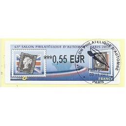 FRANCIA (2011). 65 Salon Automne - Sellos. ATM (0,55), mat. P.D.