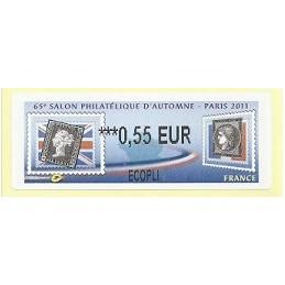 FRANCIA (2011). 65 Salon Automne - Sellos. ATM nuevo (0,55 ECOPL