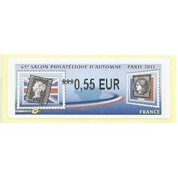 FRANCIA (2011). 65 Salon Automne - Sellos. ATM nuevo (0,55)