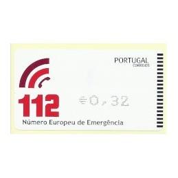 PORTUGAL (2011). 112 - AMIEL negro. ATM nuevo