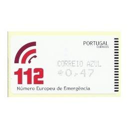 PORTUGAL (2011). 112 - AMIEL negro. ATM nuevo (C. Azul)