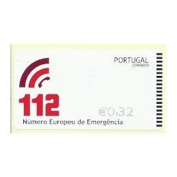 PORTUGAL (2011). 112 - NEWVISION negro. ATM nuevo