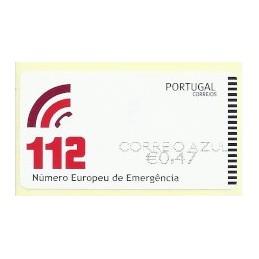 PORTUGAL (2011). 112 - NEWVISION negro. ATM nuevo (C. Azul)