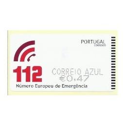 PORTUGAL (2011). 112 - SMD negro. ATM nuevo (C. Azul)
