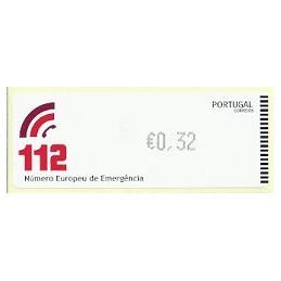 PORTUGAL (2011).  112 - CROUZET negro. ATM nuevo