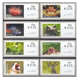 IRLANDA (2011). Animales (2) - 9821001. ATMs nuevos (8 x 0.55 EU