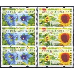 AUSTRIA (2011). ALPEN-ADRIA 11 (Flores 3). Series 3 val.
