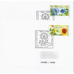 AUSTRIA (2011). ALPEN-ADRIA 11 (Flores 3). Sobres P.D. (España)
