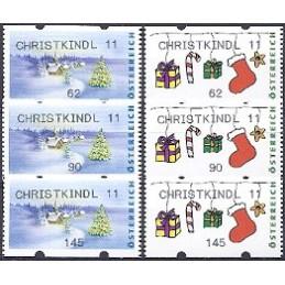 AUSTRIA (2011). CHRISTKINDL 2011 (Inv. 4). Series 3 val.