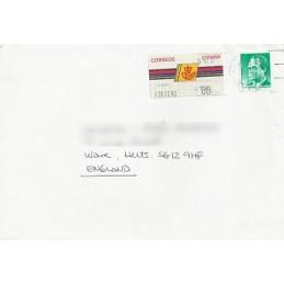 ESPAÑA. 4.3.1. Emblema postal - FNMT. No ast. Sobre (Reino Unido