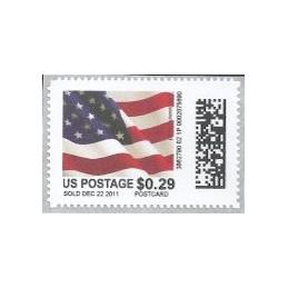 EEUU (2011). Mail&go - bandera. Sello nuevo (0.29 POSTCARD)