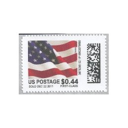 EEUU (2011). Mail&go - bandera. Sello nuevo (0.44 FIRST-CLASS)