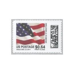 EEUU (2011). Mail&go - bandera. Sello nuevo (0.64 FIRST-CLASS)