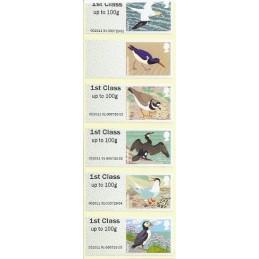 R. UNIDO (2011).  Pájaros (4) - STAMPEX 002011 91. Tira (error)