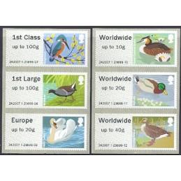 R. UNIDO (2011). Pájaros (3) - 242007 1. Serie 6 val.