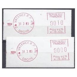 FRANCIA (1983). Satas - N1-26-925. Sellos nuevos