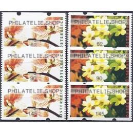 AUSTRIA (2012). PHILATELIE.SHOP (Flores 4). Series 3 val.
