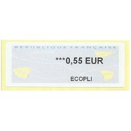 FRANCIA (2011). Aviones papel - WINCOR. ATM nuevo (ECOPLI)