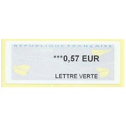 FRANCIA (2011). Aviones papel - WINCOR. ATM nuevo (LETTRE VERTE)