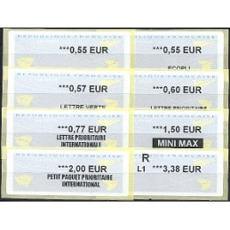 FRANCIA (2012). Aviones papel - WINCOR. Serie 8 val.