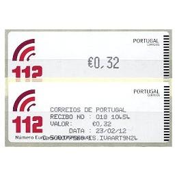 PORTUGAL (2011).  112 - CROUZET negro. ATM nuevo + rec.