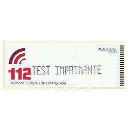 PORTUGAL (2011).  112 - CROUZET negro. Etiqueta TEST