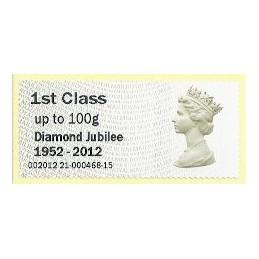 R. UNIDO (2012). Diamond Jubilee - STAMPEX 002012 21. ATM nuevo