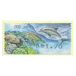 ISRAEL (2012). Fauna marina - 008. ATM nuevo