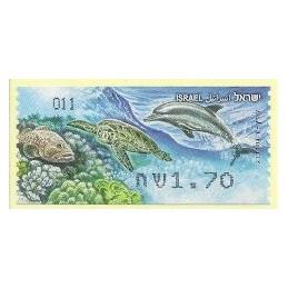 ISRAEL (2012). Fauna marina - 011. ATM nuevo