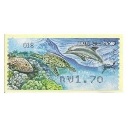ISRAEL (2012). Fauna marina - 018. ATM nuevo
