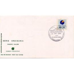 ARGENTINA (1995). Emblema postal. Sobre primer día