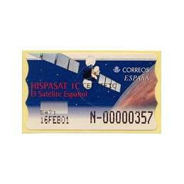 ESPAÑA. 47S. Hispasat 1C. Etiqueta control E (N-) nueva