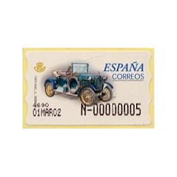 ESPAÑA. 63S. Humber T 1910. Etiqueta control E (N-) nueva