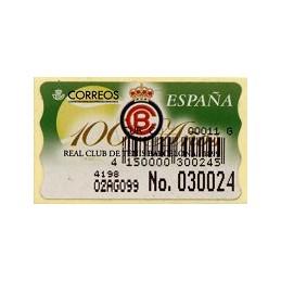 ESPAÑA. 33S. Tenis Barcelona. Etiq. control E (No. + cód.) nueva