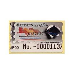 ESPAÑA. 37S. España 2000. Etiq. control A (No.-) nueva