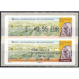 FRANCIA (2012). Salon Printemps Epernay. ATM (E 0,55) + rec. FR
