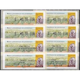 FRANCIA (2012). Salon Printemps Epernay. ATMs (4 x E 0,55) + 4 r