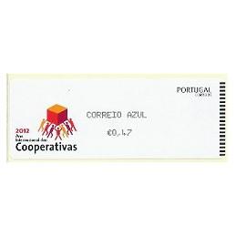 PORTUGAL (2012).  Cooperativas - CROUZET negro. ATM nuevo (C.Azu