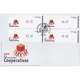 PORTUGAL (2012).  Cooperativas - CROUZET negro. Sobre P.D. (seri