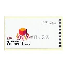 PORTUGAL (2012). Cooperativas - AMIEL negro. ATM nuevo